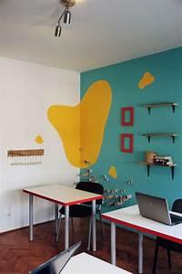 Wandgestaltung Büro Ideen : 101 beispiele f r farbgestaltung und farbwirkung im raum ~ Lizthompson.info Haus und Dekorationen