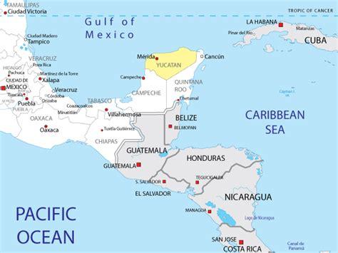 region du yucatan voyages cartes