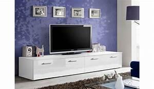 Meuble Tv Bas Et Long : meuble tv bas 2m blanc pour meuble tv ~ Teatrodelosmanantiales.com Idées de Décoration