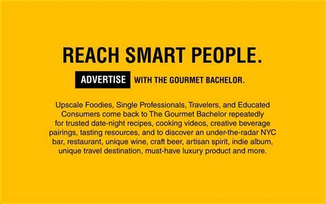 Advertise   The Gourmet Bachelor: Gourmet Lifestyle Blog