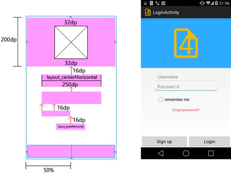 let s create the screen android ui layout and controls
