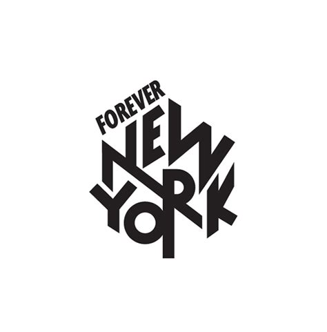 nyc logo design new york forever logo 2014 on inspirationde
