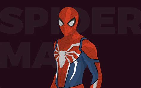 wallpaper spider man minimal hd movies