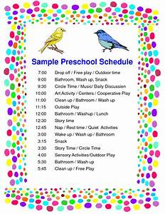 8 best images of daycare classroom visual schedule With preschool classroom schedule template