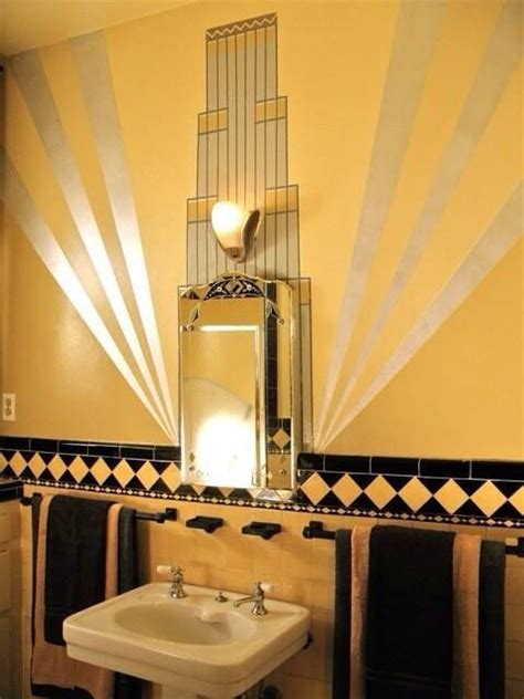 gold  black art deco bathroom image aquaritus