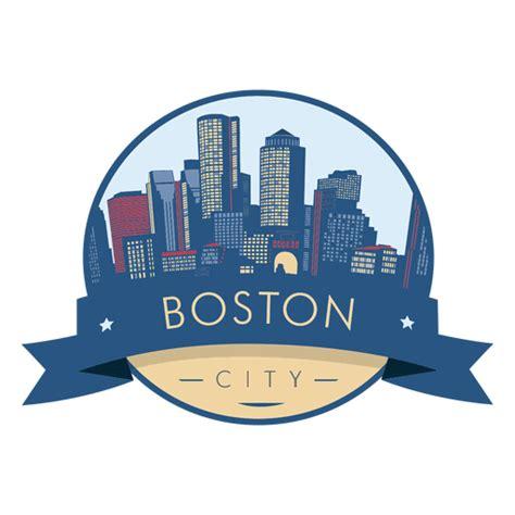 boston city skyline badge transparent png svg vector