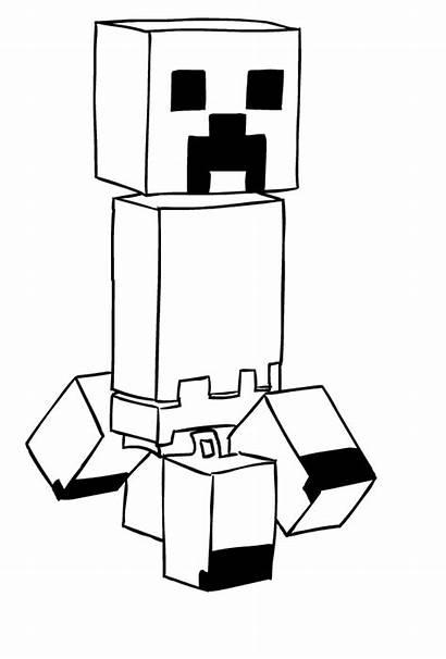 Minecraft Creeper Dibujos Disegni Drawing Colorear Colorare
