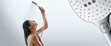 Waterfall Rain Shower Head by Mixers For Bathrooms And Kitchens Hansgrohe Int