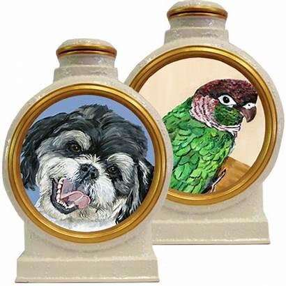 Pet Acrylic Pottery Portrait Premium Urn Urns