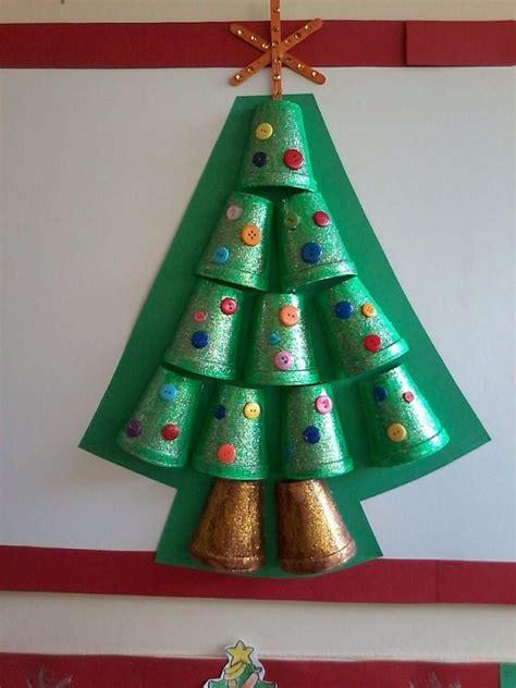 styrofoam cup christmas tree craft  kids bulletin