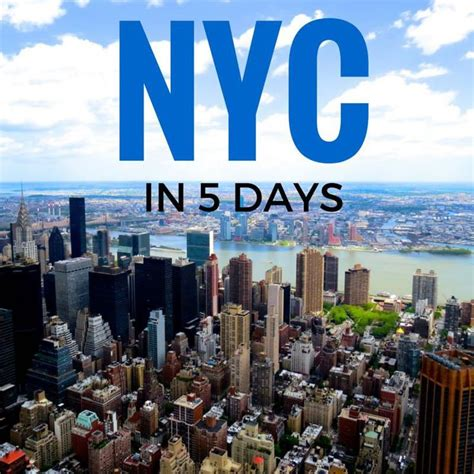 New York City In 5 Days An Itinerary For First Time Visitors  New York City  Pinterest A