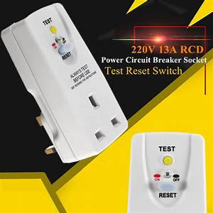 220v 13a Rcd Safety Adapter Plug Power Circuit Breaker