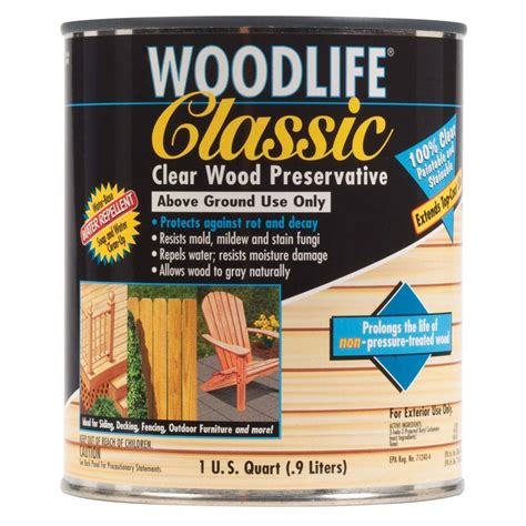 Wolman Deck Stain Menards by Wolman 1 Qt Classic Clear Above Ground Wood Preservative