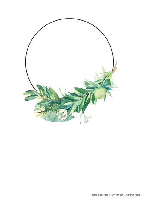(FREE PRINTABLE) - Green Leaves Wedding Invitation ...