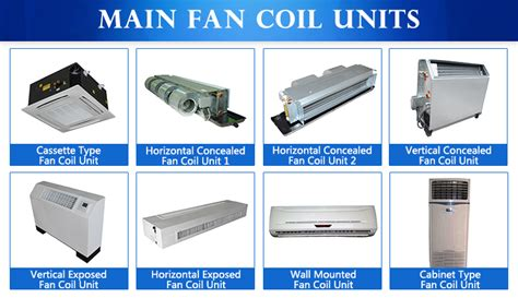 vertical fan coil unit air conditioning chilled water vertical concealed fan coil