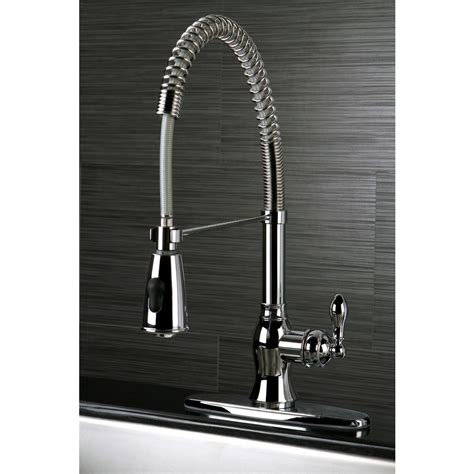 kitchen faucet deals american classic modern chrome spiral pull down kitchen faucet overstock shopping great