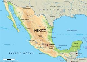 Mexico Map  Mexico Physical Map