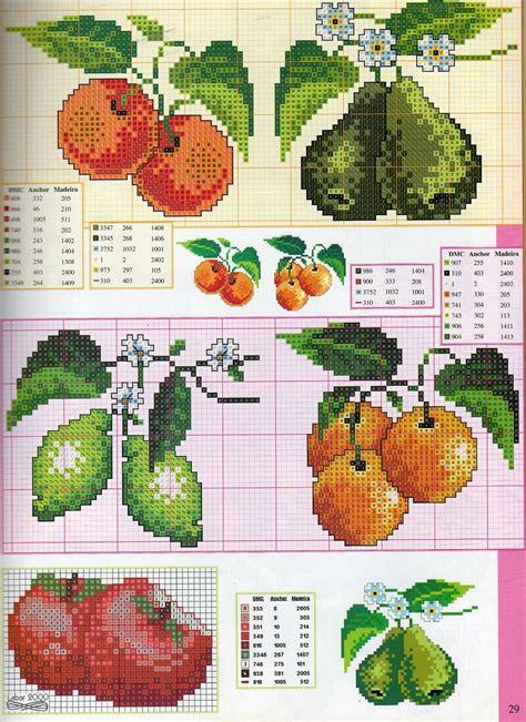 Manualidades Bordados De Frutas En Punto De Cruz