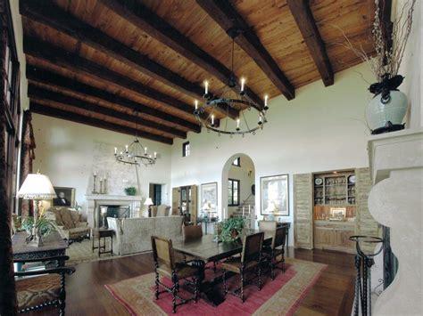spanish inspired rooms hgtv