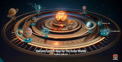Halcyon Map System Outer Worlds Maps Star