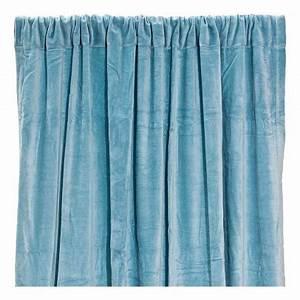 Rideau Bleu Gris : rideau occultant en velours de coton bleu gris liv interior d coration smallable ~ Teatrodelosmanantiales.com Idées de Décoration