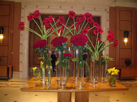 flower arrangement hotel lobby cairo photograph  lynda