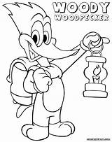 Woody Woodpecker Coloring Pages Cartoon sketch template