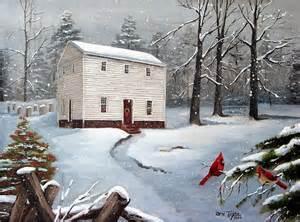 Christmas Snow Scenes Painting