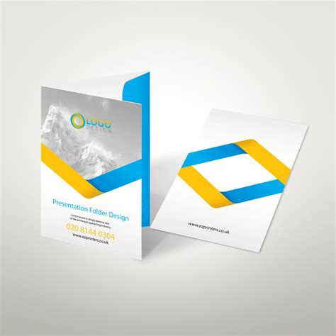 a5 interlocking folder template interlocking folders presentation folders ez printers
