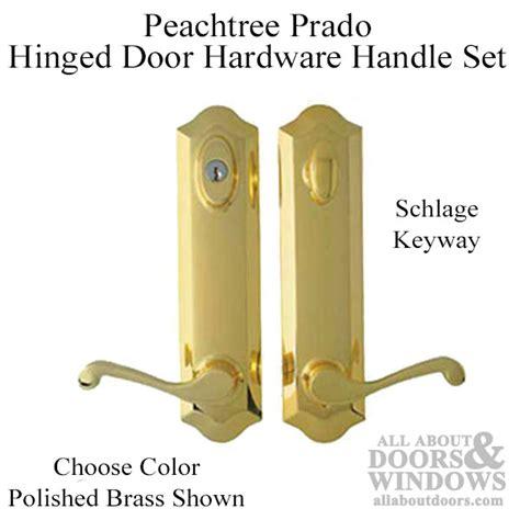 peachtree prado hinged door hardware handle set schlage