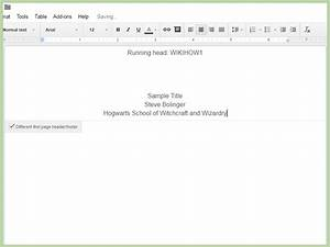 how to create an apa style title page via google drive 12 With google docs first page header