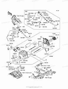 Kawasaki Motorcycle 2012 Oem Parts Diagram For Air Cleaner