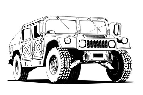 military hummer drawing humvee lineart by thieres on deviantart