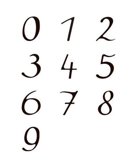 best 25 number fonts ideas on pinterest number tattoo fonts cool lettering and fonts for numbers