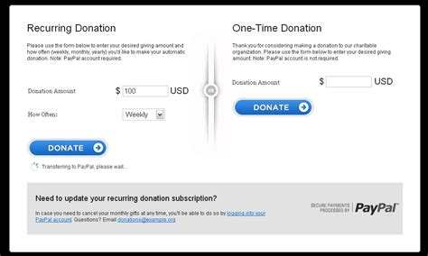 paypal recurring online donation form by rtwoods codecanyon