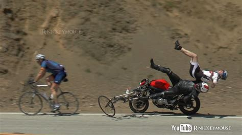 Shocking Motorcycle Crash Into Bicycles