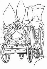 Cinderella Coloring Carriage Carruagem Disney Princesa Movies Colorir Cinderela Desenhos Desenho Pumpkin Imprimir Printable Princess Colouring Animation Adult Template Cendrillon sketch template