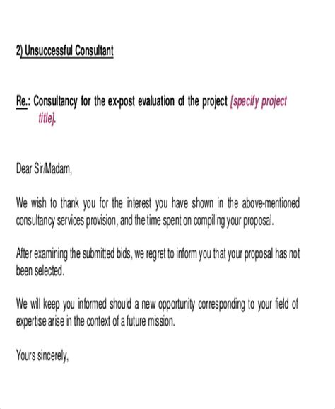 Thank You Letter For Rejection by 9 Rejection Thank You Letter Free Sle Exle