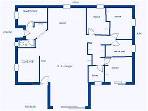 plan de maison plain pied 120m2 plan maison meubl maison With plan de maison 120m2 2 gallery of hot plan maison plein pied modles et plans de