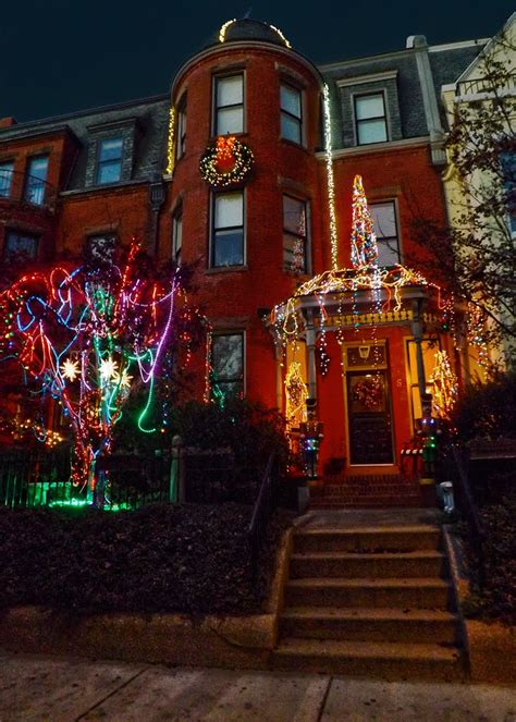panoramio photo of christmas lights on grove avenue