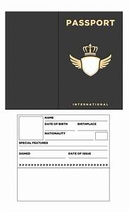the gallery for gt blank passport With passport photo word template