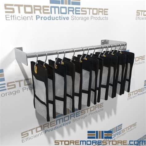 hanging evidence racks storing pistols long arms handguns