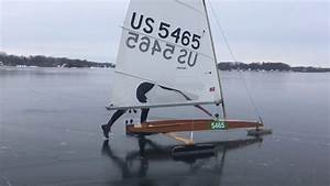 Watch A Running Start For Ice Boat Sailing