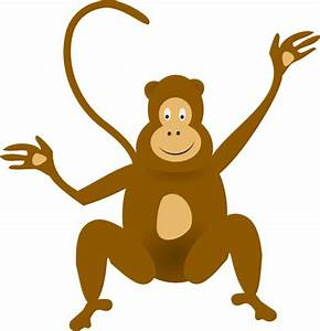 Upside down hanging monkey clipart free clipart 2 ...