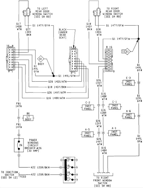 Jeep Power Window Wiring Diagram by I A 93 Jeep Grand And All Of A Sudden None