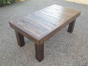 simple dark brown finished rectangular reclaimed wood With dark reclaimed wood coffee table