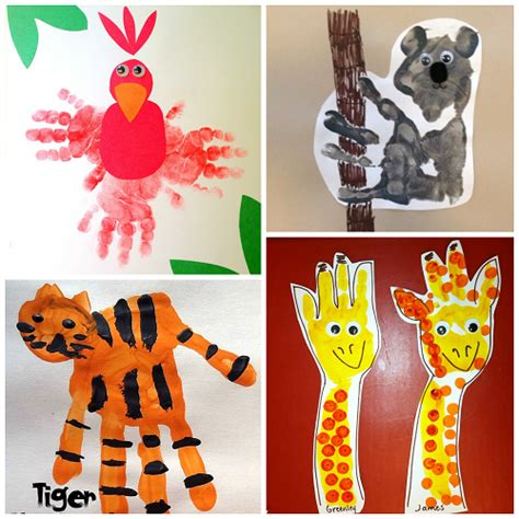 zoo animal handprint crafts for crafty morning 252 | zoo animal handprint crafts for kids