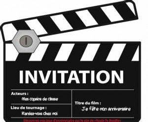 Objet Deco Cinema : invitation d 39 anniversaire cin ma des id es pour que la f te soit belle pinterest ~ Melissatoandfro.com Idées de Décoration
