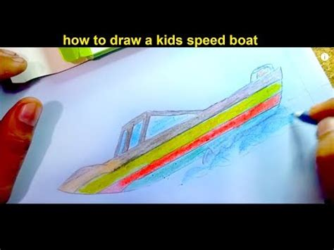 How To Draw A Speedboat Easy by How To Draw A Kids Speed Boat Step By Step For Kids Easily