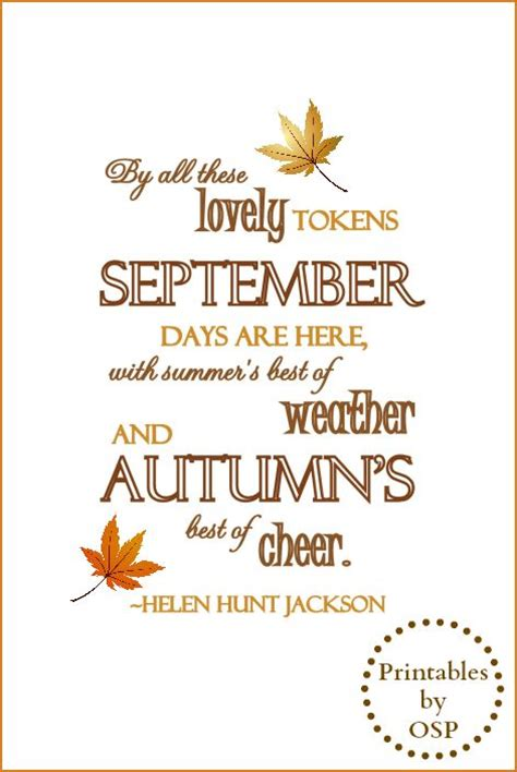 September Fall Quotes Quotesgram